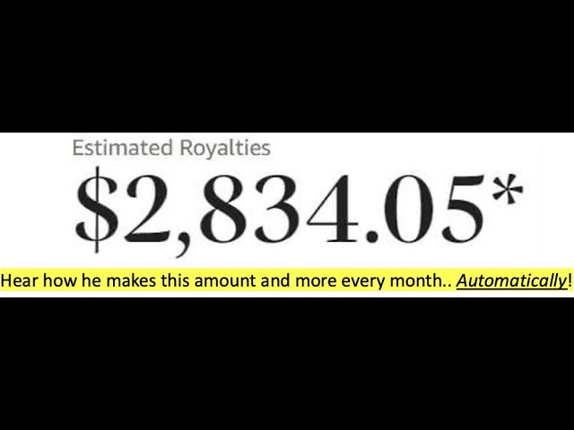 $3,000.00 a month with Kindle Cash Flow!