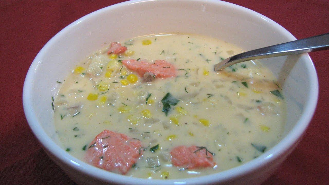 Salmon And Corn Chowder  Lynn's Recipes