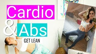 Best Workout for Cardio & Abs at Home to Get LEAN! | Rebecca Louise