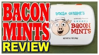 """Uncle Oinker's Savory Bacon Mints Review - """"yummy Bacon Flavoured Mints!"""""""