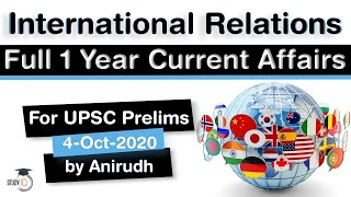 Complete One Year International Relations Current Affairs for UPSC Prelims 2020 in Hindi #UPSC #IAS