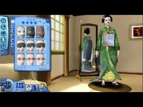 sims 3 making a geisha create a sim youtube. Black Bedroom Furniture Sets. Home Design Ideas