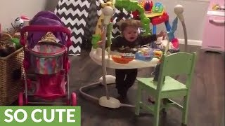 """Baby has full """"conversation"""" with voice-repeating toy"""