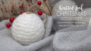 DIY Knitted Look Christmas Ornament    NO KNITTING REQUIRED
