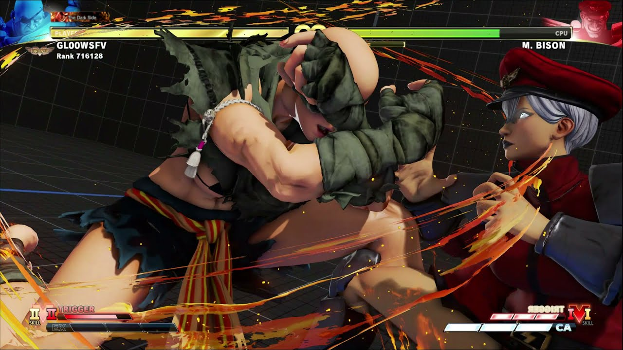 Female Sagat custom skin mod Street Fighter 5