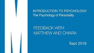 Psych Intro P: Feedback from Matthew and Chiara - Sept 2018