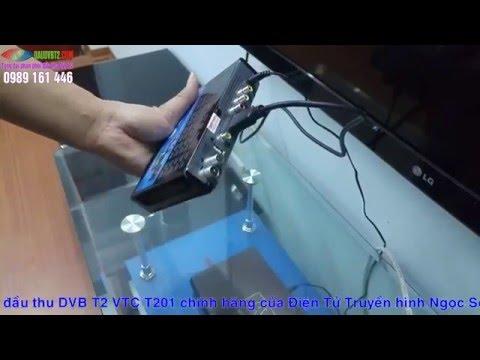 Hướng dẫn dò kênh đầu thu DVB T2 VTC T201