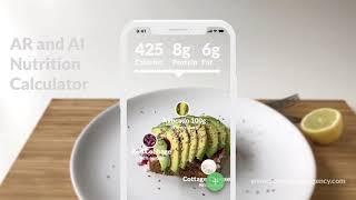 Gambar cover Apple Health nutrition calculator mobile app AR / AI concept
