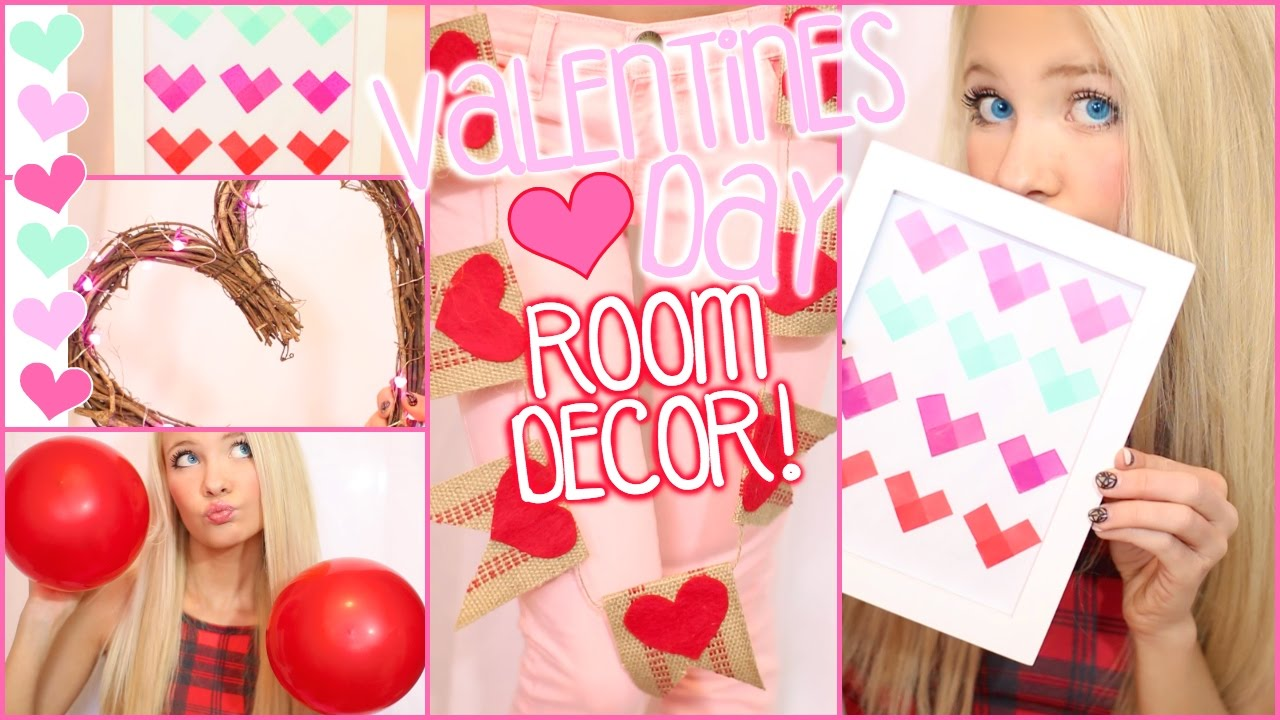 diy room decor! cute, easy and cheap for valentines day! - youtube