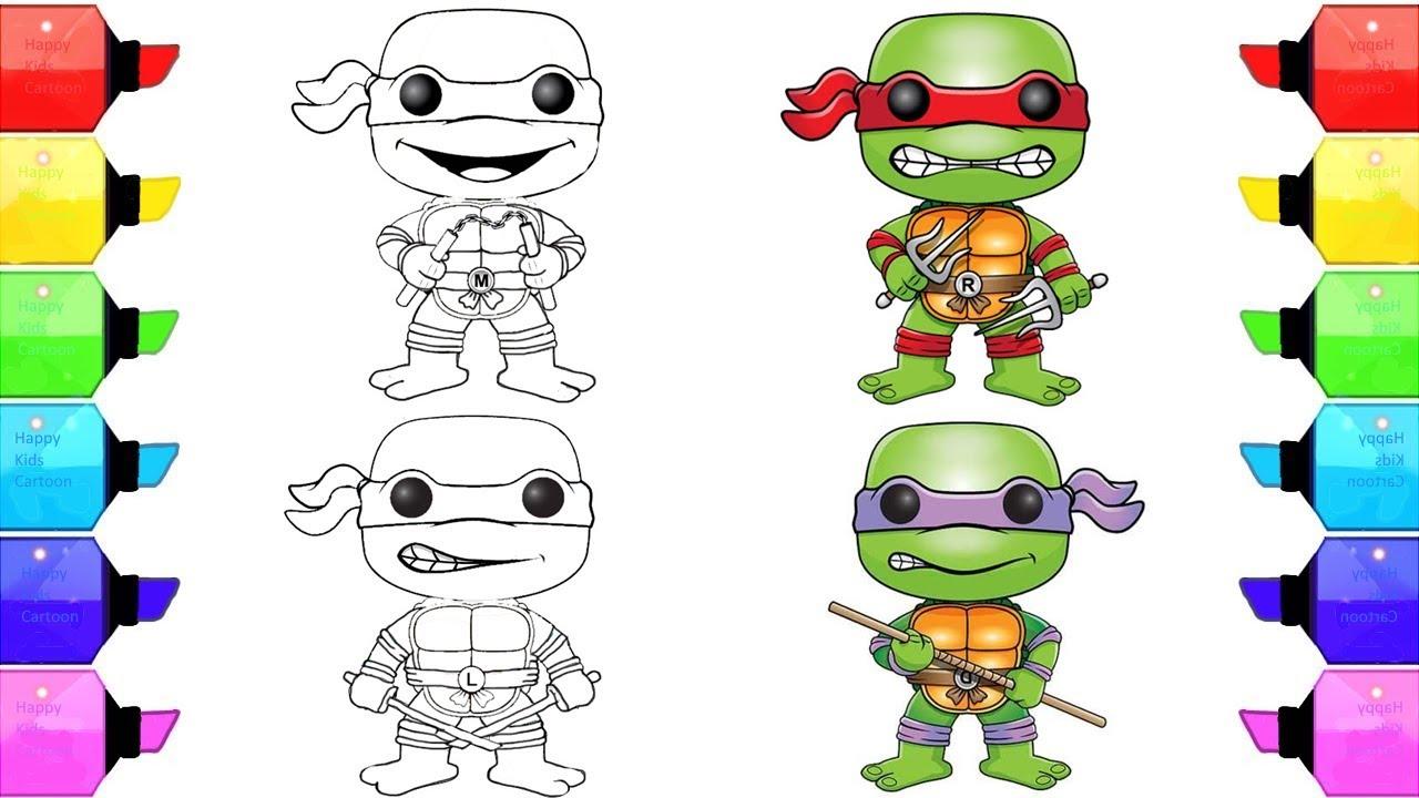 Teenage Mutant Ninja Turtles Coloring Pages For Kids Tmnt