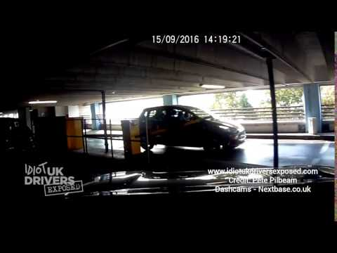 Caught On UK Dash Cam Idiot Driver crashes straight into car park barrier Hemel Hempstead