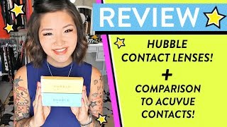 Hubble Contacts Review + Comparison to Acuvue Oasys Contacts | HelloHannahCho