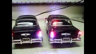 Custom 1955 Buick Century police cars HIGHWAY PATROL diecast models w/ working lights