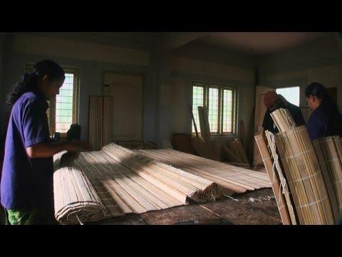 Making of bamboo mats, Wayanad