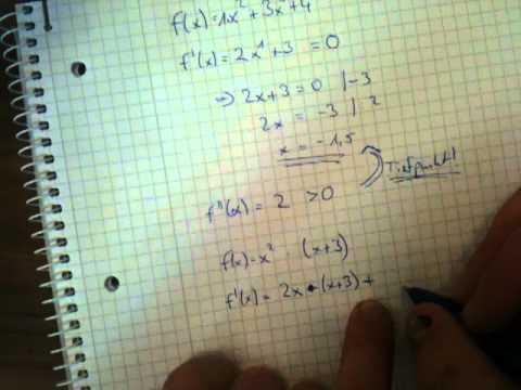 extremwert berechnen mathe aufgaben youtube. Black Bedroom Furniture Sets. Home Design Ideas