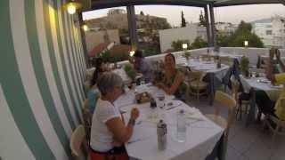 Strofi Restaurant overlooking Parthenon on the Acropolis of Athens, Greece