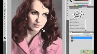Урок по Photoshop, восстановление старой фотографии