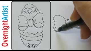 How to draw bows on easter eggs