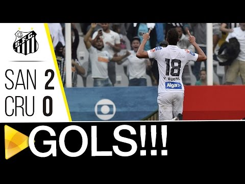 Santos 2 x 0 Cruzeiro | GOLS | Brasileirão (31/07/16)