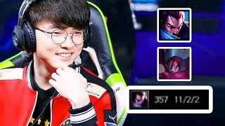 FAKER Carries his team to victory with YASUO & AATROX