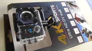 Camera Sports 4K Wifi 170° 30 metros ( Go Pro  )Apresentando e Configurando Unboxing