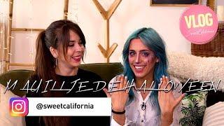 Sweet California - Maquillaje de Halloween con Abril #Vlog