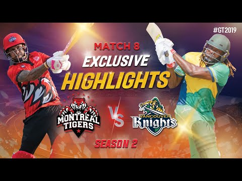 Chris Gayle's striking hit of 122 runs in 54 balls|Montreal Tigers vs Vancouver Knights| GT20 Canada