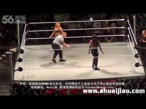 WWE Aksana vs Natalya Shanghai 2013