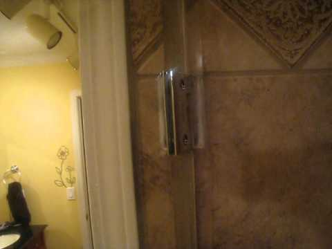 dreamline shower door hinge popping