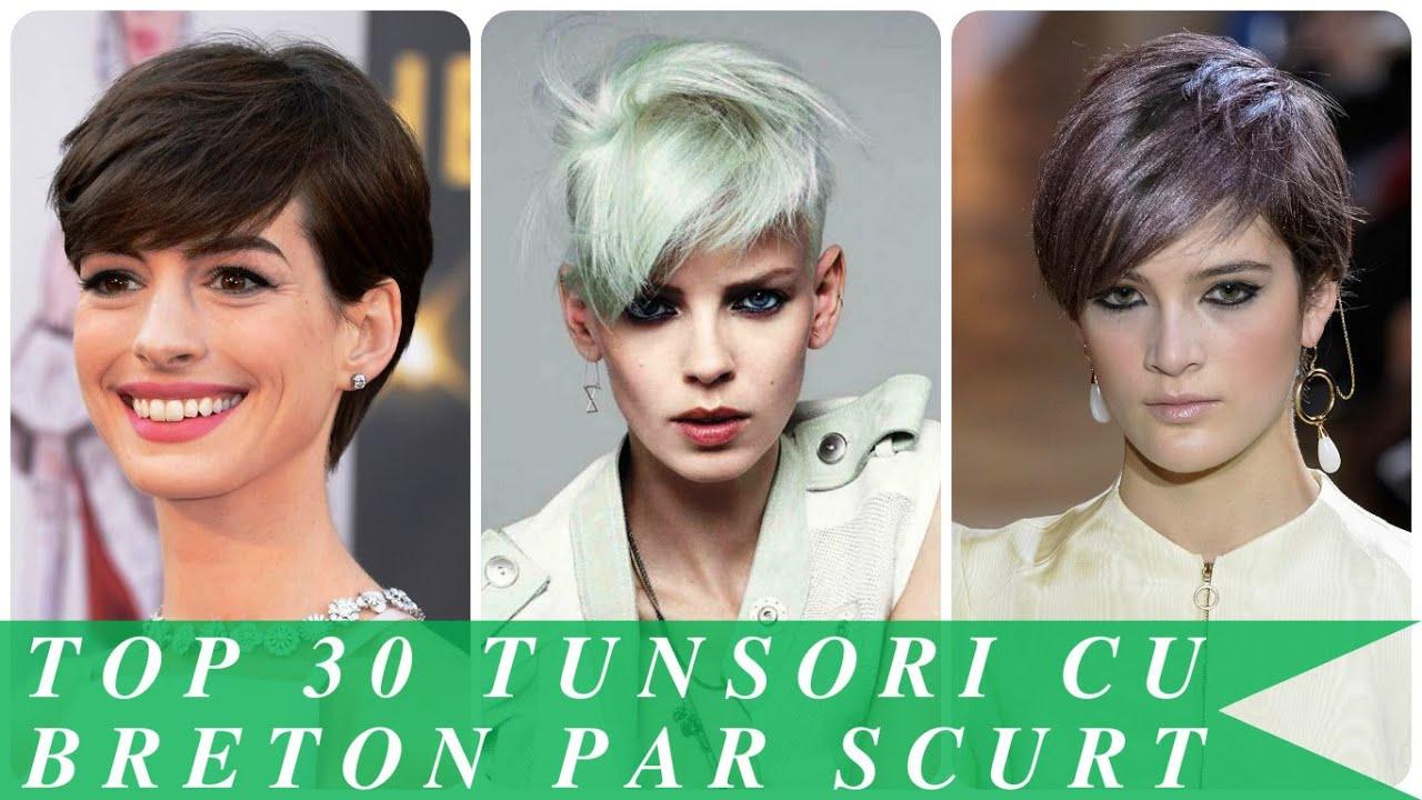 Top 30 Tunsori Cu Breton Par Scurt Youtube