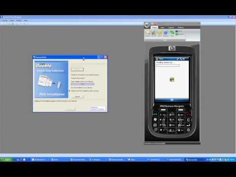 SurveyToGo PDA installation demo