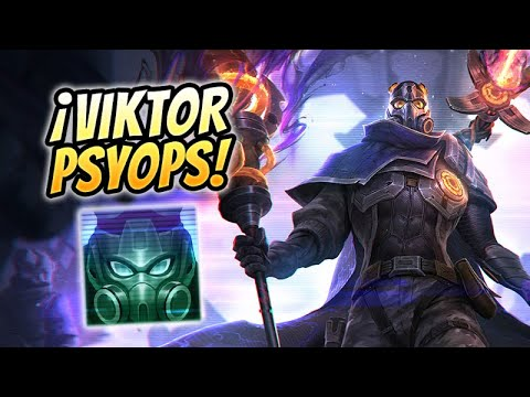 🔥 ¡JUGAMOS CON LA NUEVA SKIN DE VIKTOR PSYOPS! 🔥 Viktor PsyOps Top Gameplay S10