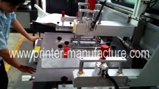 Flat Bed Screen Printer , Flatbed Screen Printing Machine