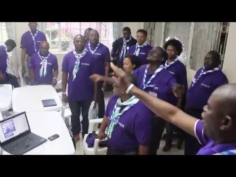 Scout Chant at the Africa GSAT Facilitators Training 2016, Nairobi-Kenya