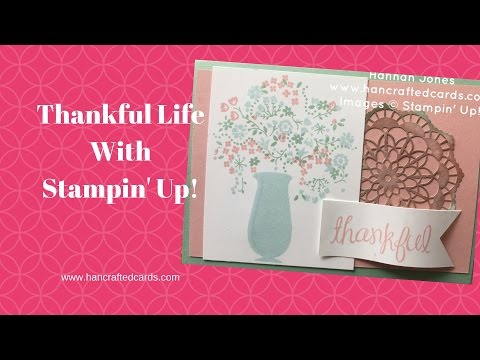 Stampin Up Colour Challenge 7 with *NEW*  Thankful Life
