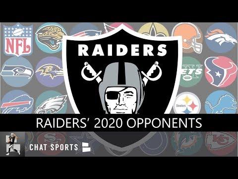 Raiders 2020 Opponents: Las Vegas Raiders Home & Away Games + The 5 Must Watch Games