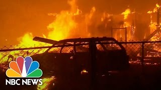 Valley Fire Rips Through California Homes | Short Take | NBC News