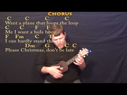 Christmas Don't Be Late - Ukulele Cover Lesson in C with Chords/Lyrics