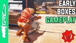 EARLY BOXES GAMEPLAY! - Gears of War 4 Multiplayer Gameplay (Gears 4 BOXES 2v2 Multiplayer Map)