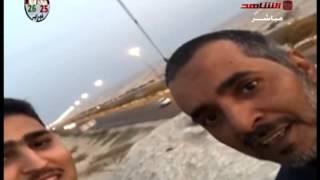 شاب سعودي يرفع علم الكويت اعلى قمة في السالمي