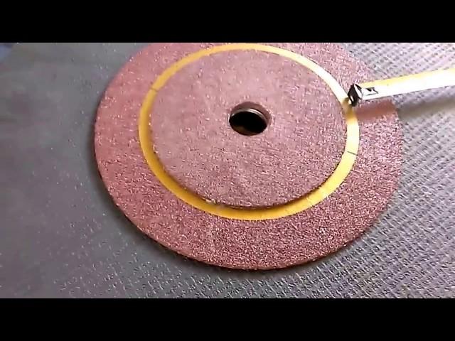 Como hacer mas cortes con el  disco abrasivo de 14, JMVL