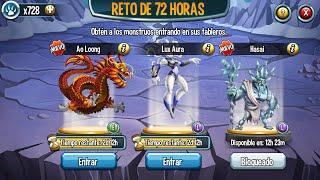 Monster legends (72 hours challenge) reto de 72 horas como conseguir fichas
