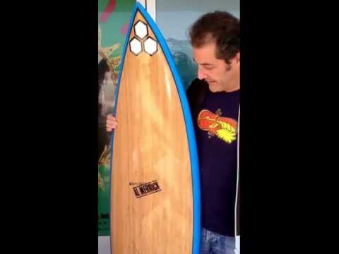 """HD - Channel Islands ECOBOARD surfboard--for Shaun Tomson, his signature """"WARP"""" model"""