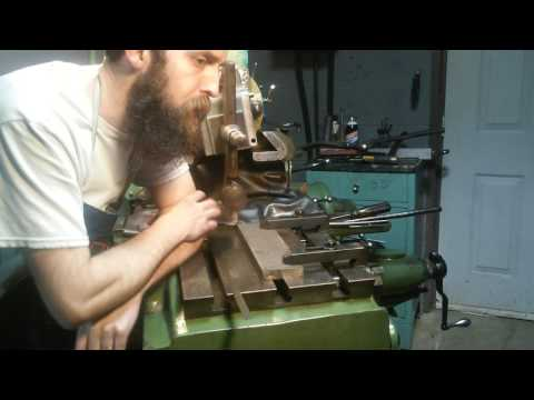 Steve Summers Cutting the Tapered Gib in the Metal Shaper