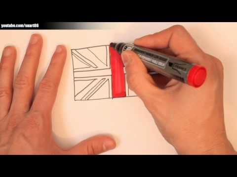 How to draw a british flag