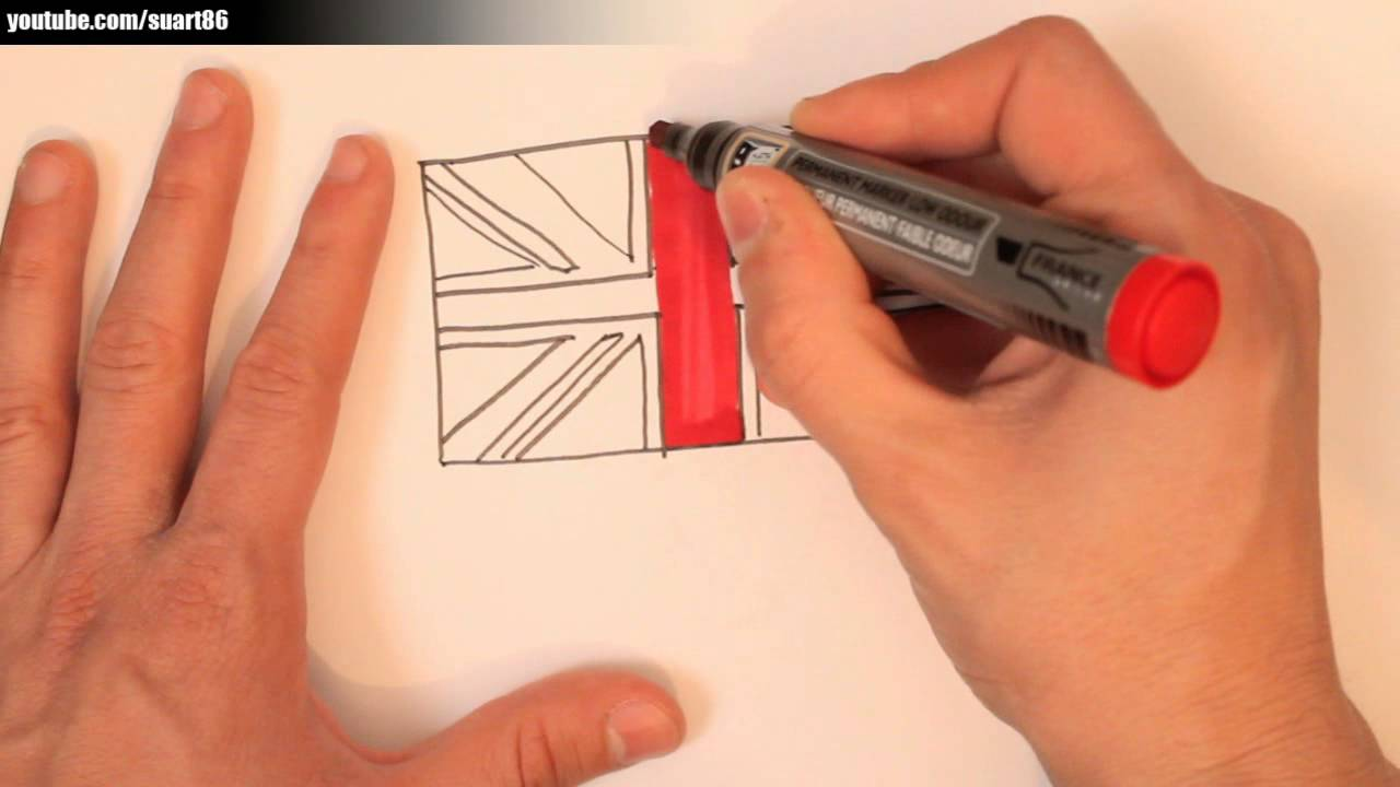 how to draw a british flag youtube