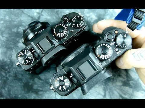 Fujifilm X-T2 vs. X-T1 detailed differences externally, ergos, buttons etc. compared & contrasted