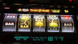 ***Throwback!*** Konami - Thunder Warrior Slot Machine Bonus