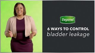 Tips for Managing Bladder Leaks | Depend®