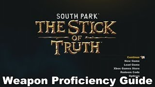 South Park: The Stick of Truth - Weapon Proficiency Guide